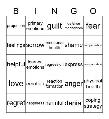 Section 3 Key Terms Bingo Card