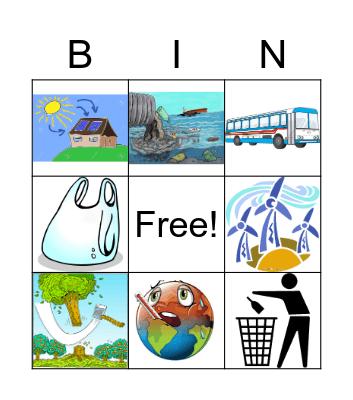 ENVIRONMENT Bingo Card