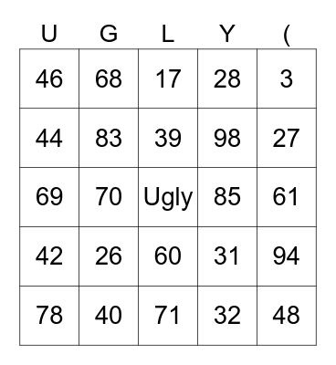 Number Game - Tio Tales - The Strongest Bingo Card