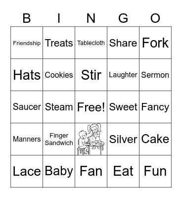 Awaken Ladies Tea Bingo Card