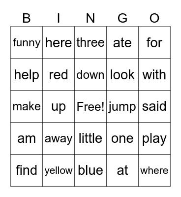 Literacy Group Bingo Card