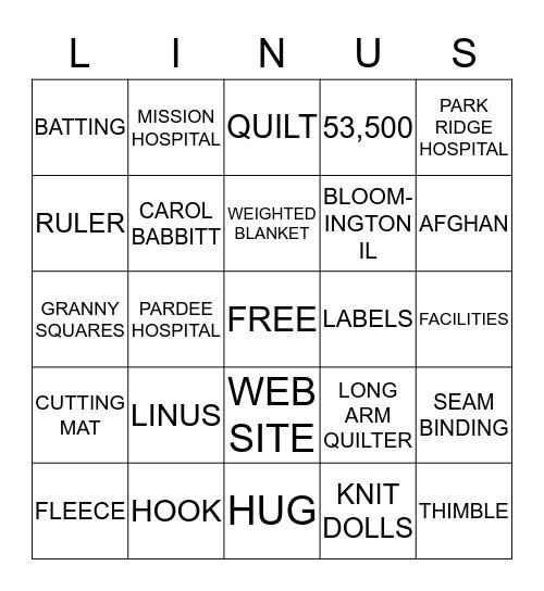 PROJECT LINUS Bingo Card