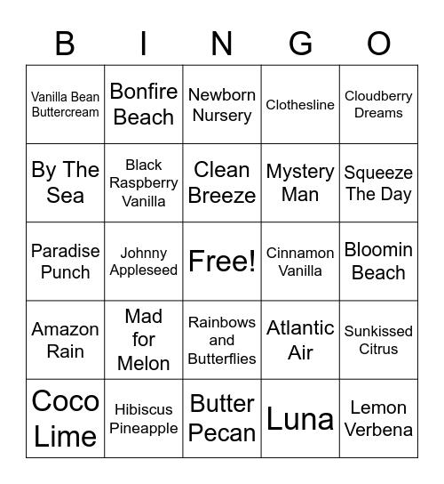 Scentsy Bingo Card