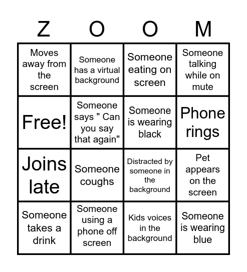 Virtual Bingo Card