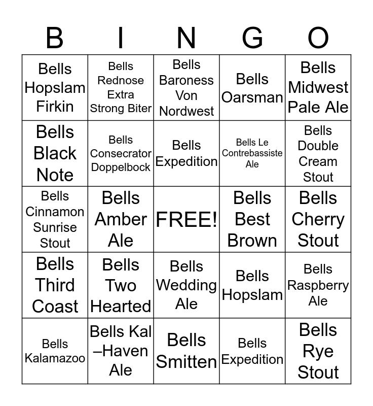 Bells Parlor Games Bingo Card