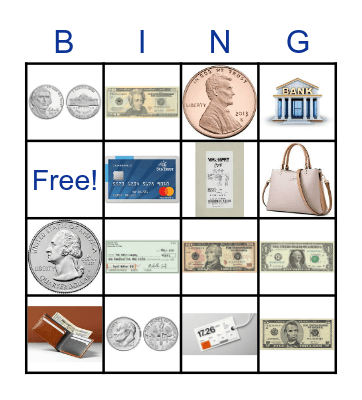 MONEY! MONEY! Bingo Card
