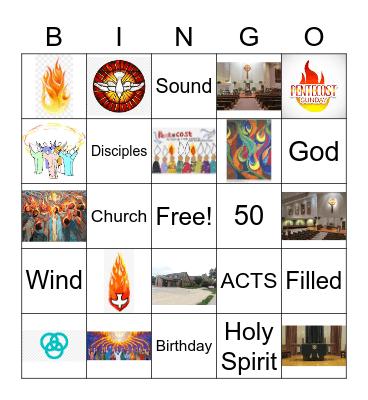 Pentecost Bingo Card