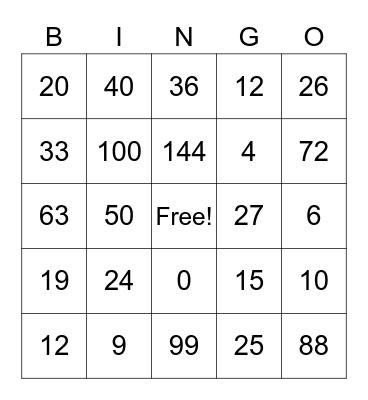 STAAR Bingo! Bingo Card