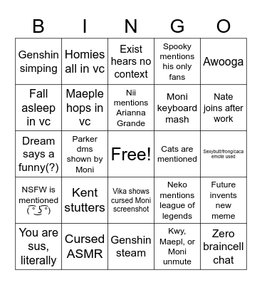 Peppa Pog Bingo Card