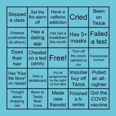 WWU Bingo Card
