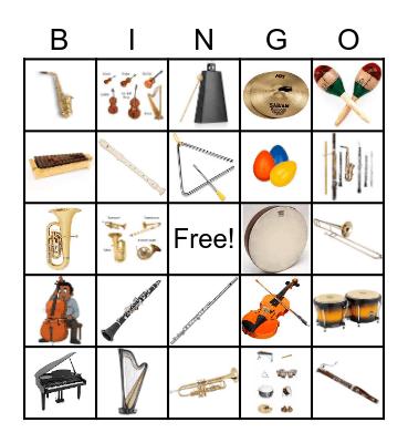 2nd Grade InstrumentClarinet Bingo Card