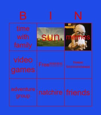 gratfull bin Bingo Card