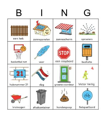 Sportdag Bingo Card