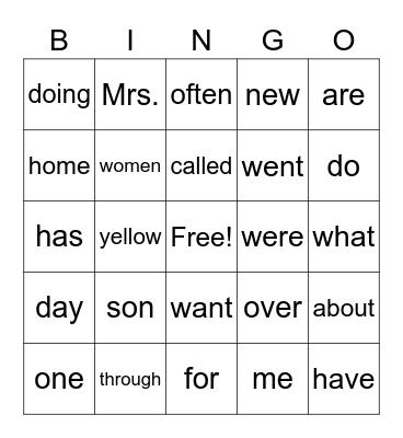 Red 49 Bingo Card