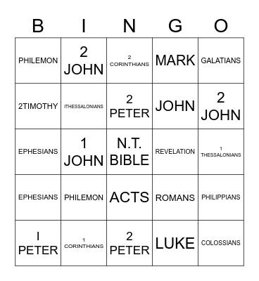 BOOKS OF THE BIBLE Bingo Card