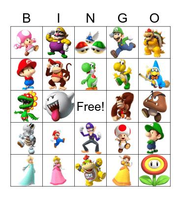 Mario Kart Bingo Card