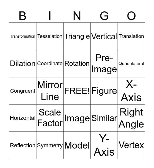 Translation Bingo Card