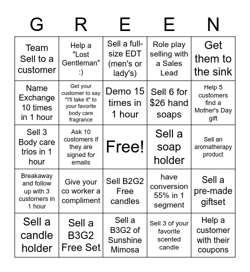 #GinghamNation Bingo Card