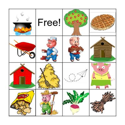 Three Little Pigs Bingo Card