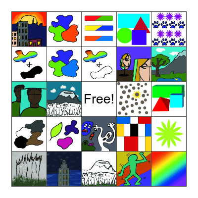 Art Bingo! Bingo Card
