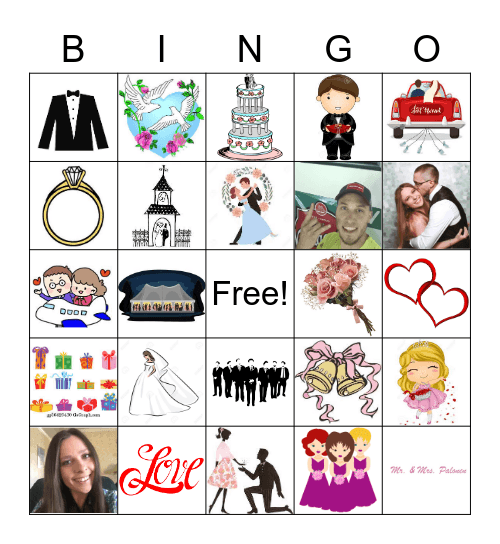 Bridal Bingo! Bingo Card