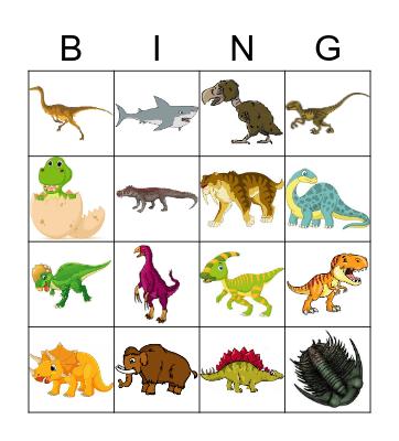 Prehistoric Bingo Card
