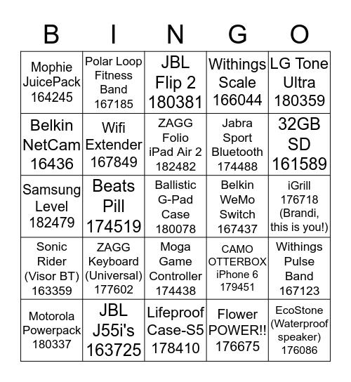 INDY MARCH BINGO BRAWL!!!!!! Bingo Card