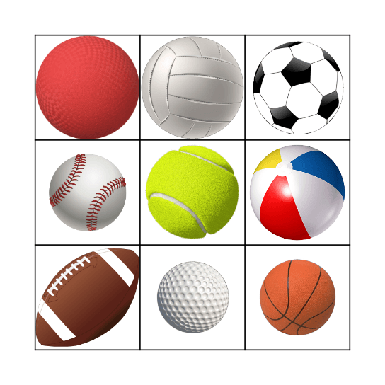 Ball Bingo Card