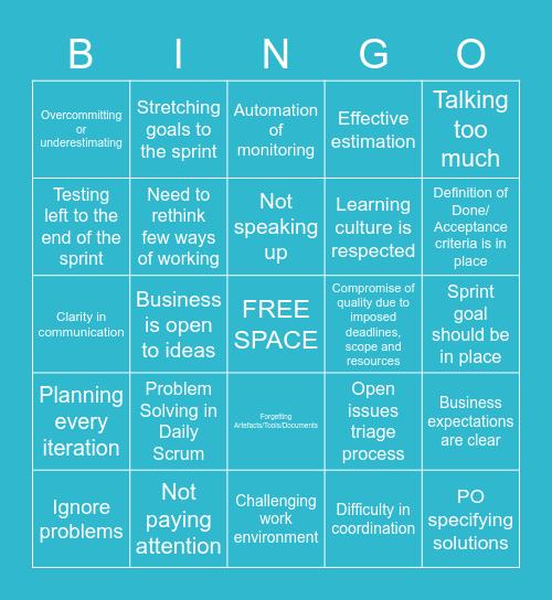 Retrospective Bingo Card