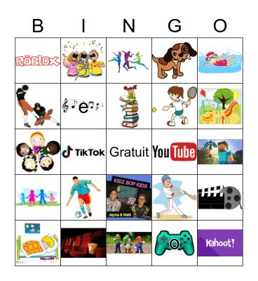 Qu'est-ce que tu aimes faire? Bingo Card