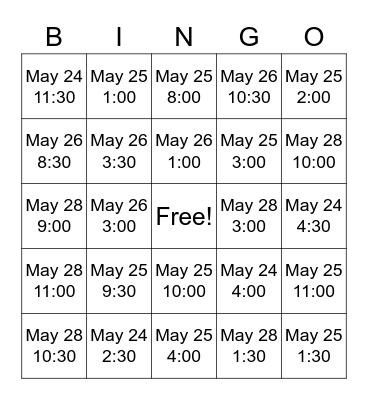 Lincoln Bingo Card