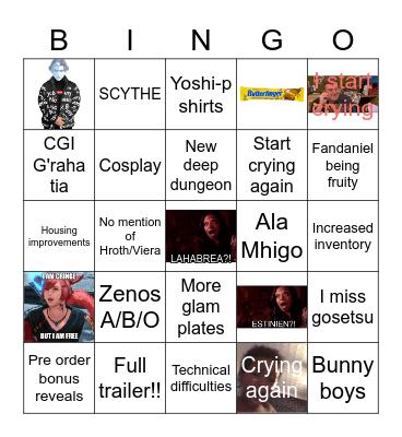FANFEST 2021 Bingo Card