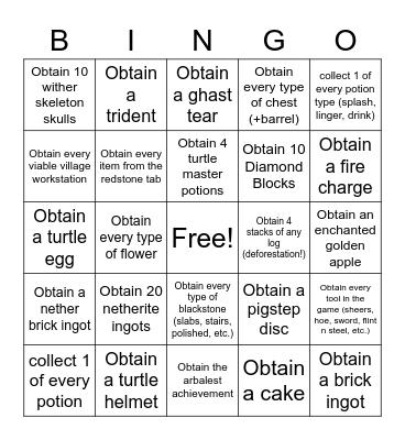 Su1 Bounty Hunting Bingo Card