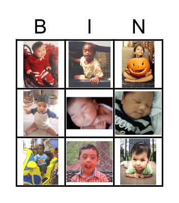 Baby Picture Bingo Card