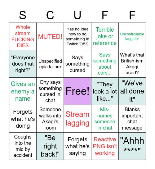 AkagiPanda's stream scuff bingo Card