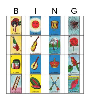 DIY Loteria Bingo Card
