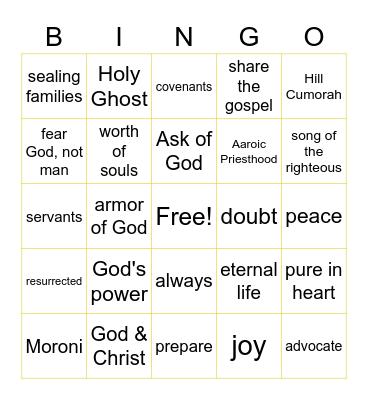 Doctrine & Covenants Bingo Card