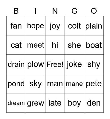 FUNdations Bingo Card