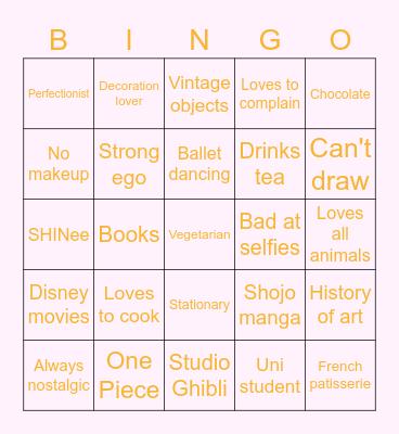 My bingo Card