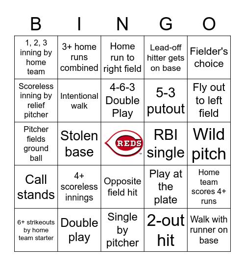 Baseball Bingo Card