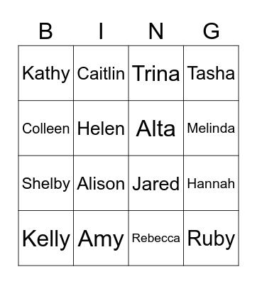 Getting to know OCS Bingo Card
