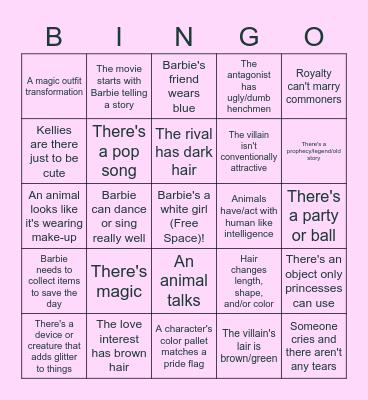 Barbie Bingo Card