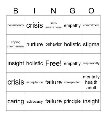 Chapter 8 Bingo Card