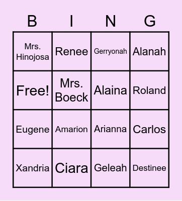 Can you Guess? Bingo Card