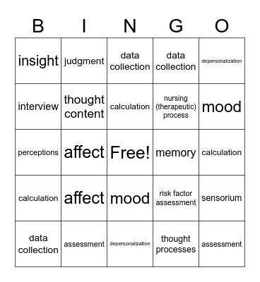 chapter 9 Bingo Card