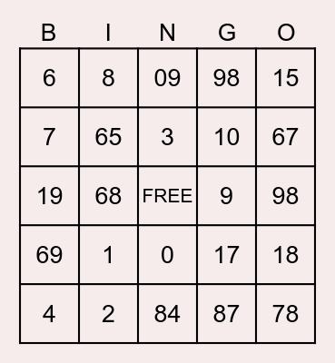 Weight Conversions Bingo Card