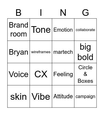 Trigger Bingo Card