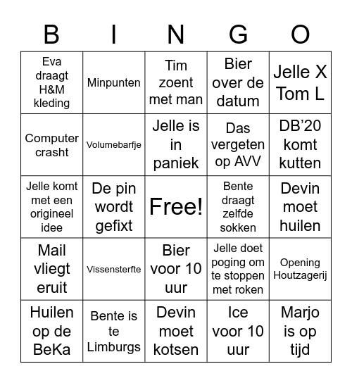 De Besten'21 Bingo Card