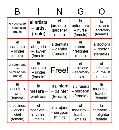 Community Workers Bingo Card