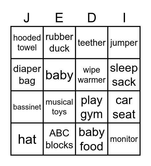 IT'S A BOY Bingo Card